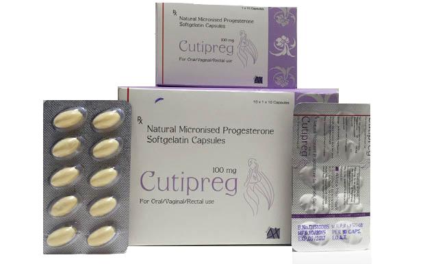 Natural Micronized Progesterone Soft Gelatin 100/200/300/400 mg